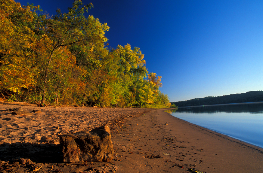 Beach at Afton State Park