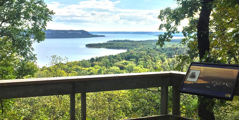 Overlook of Lake Pepin