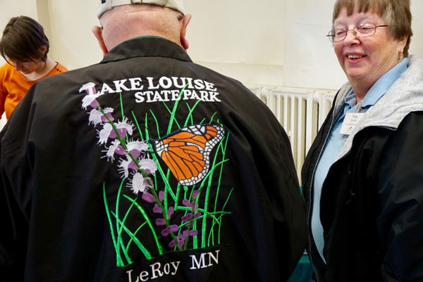 Man sporting a Lake Louise State Park jacket
