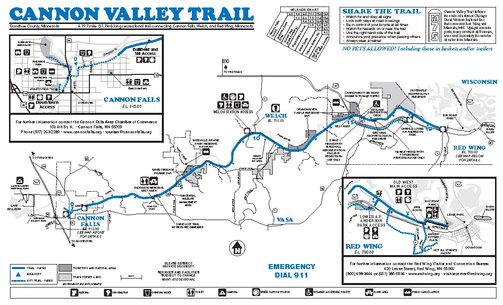 Map of the Cannon Valley Trail