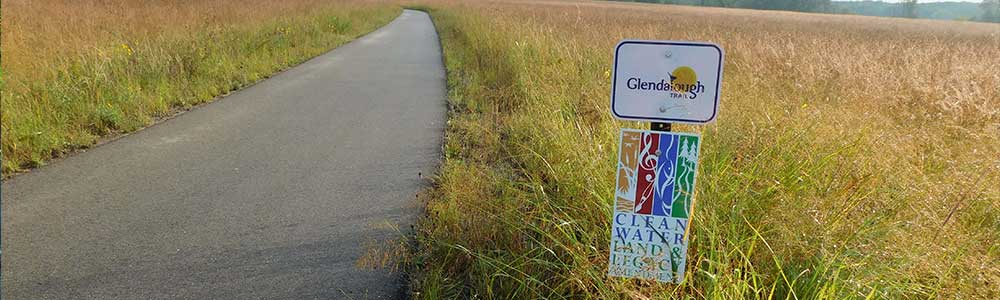 Legacy Amendment Sign at Glendlough State Park Trail