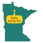 Map of MN with Big Bog pinpointed