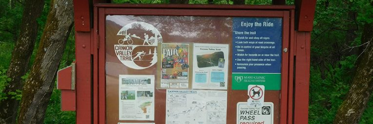 Trail sign along Cannon Valley Trail