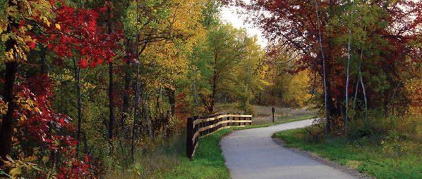fall along Cuyuna Lakes State Trail