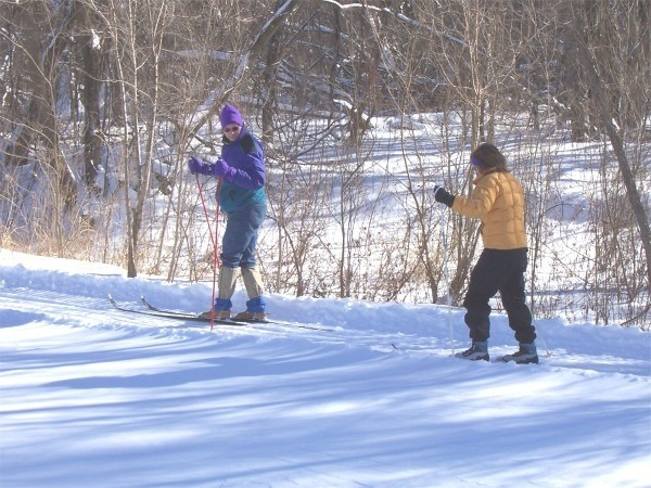 Skiiers on the Cannon Valley Trail