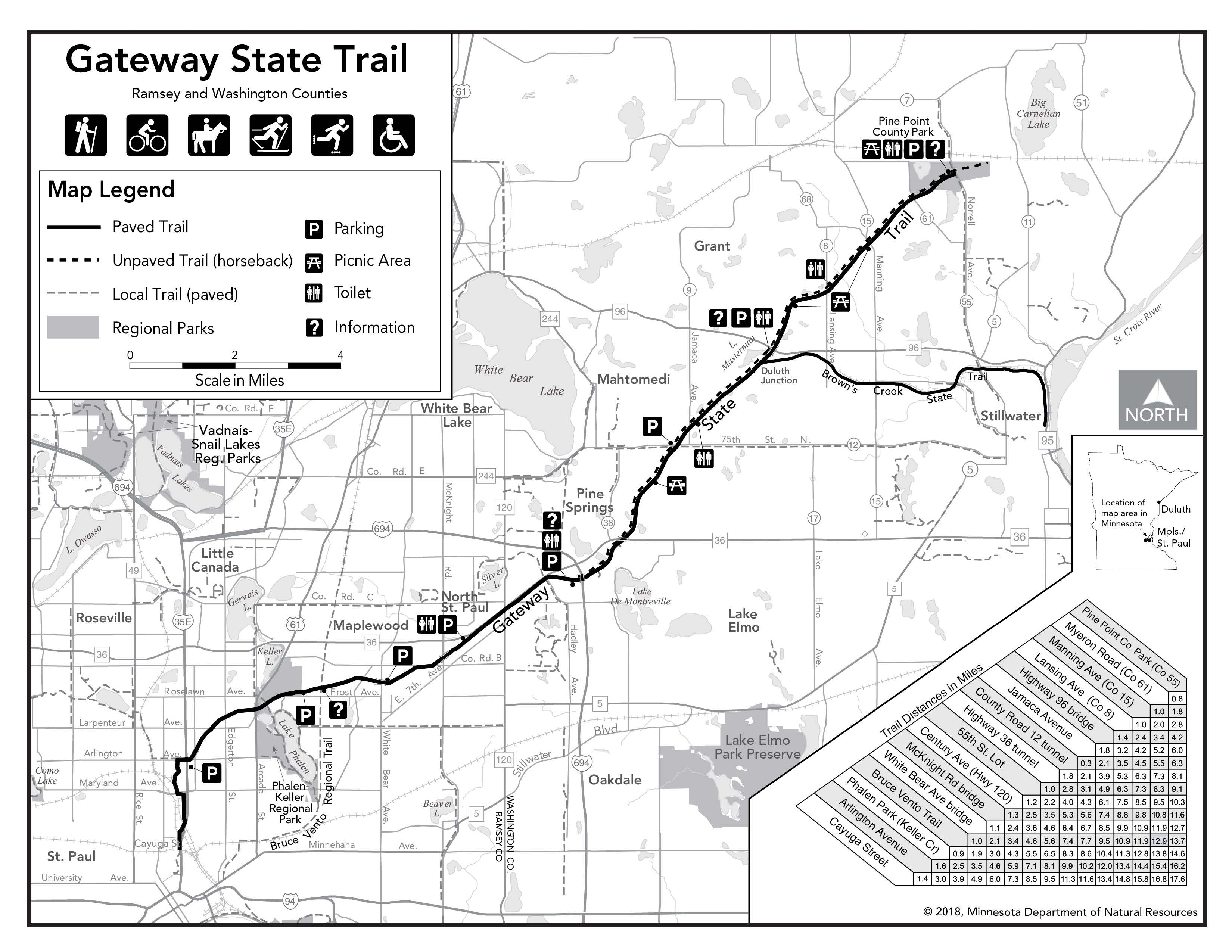 Map of Gateway State Trail by MnDNR