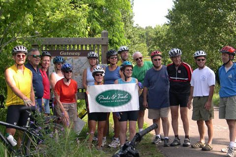 P&TC members at the Gateway State Trail