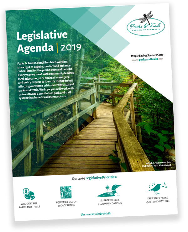 Parks & Trails Council's 2019 Legislative Agenda image