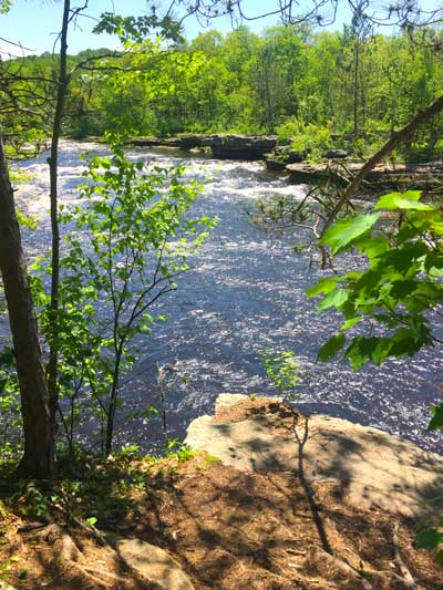 View of the Kettle River in Banning State Park