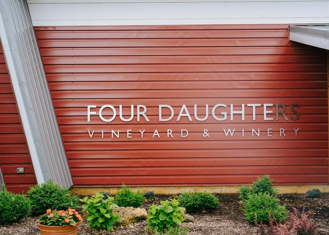 view of the sign on winery exterior
