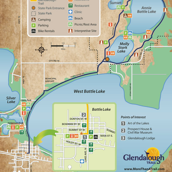 Map of the Glendlough Trail