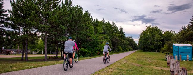 bicyclists on trail in Dorset