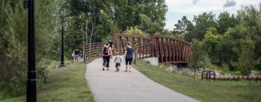 pedestrians on Heartland State Trail
