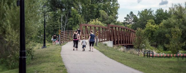 pedestrians on Heartland State Trail