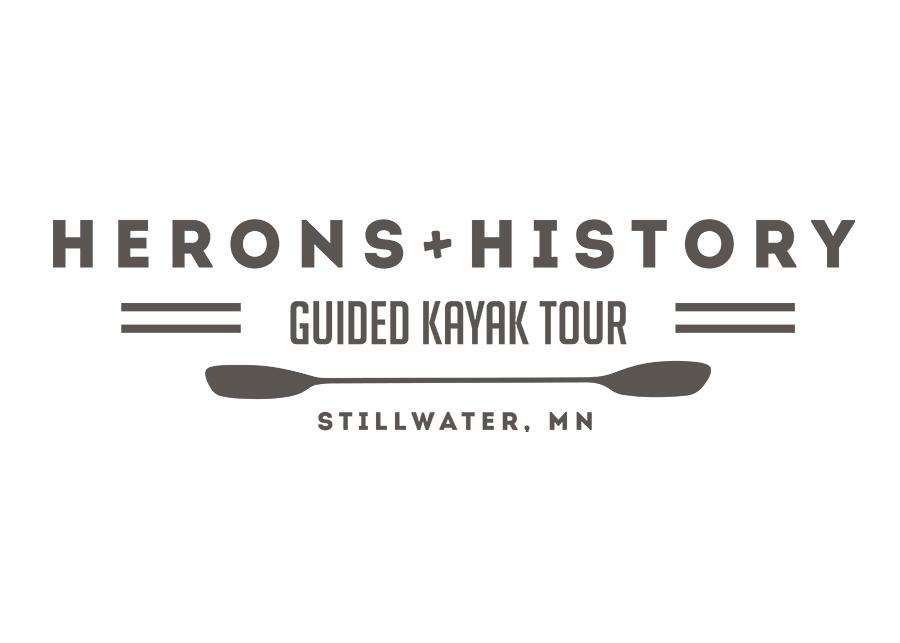 Logo for Herons + History Kayak Tour