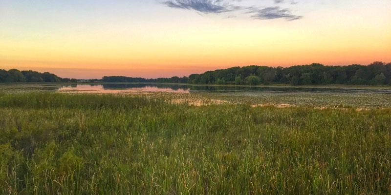 Sunset over Horseleg Lake at Isanti Co Anderson Park