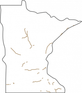 Minnesota Outline with trails