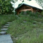 Picnic shelter on hill