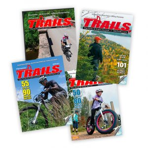 four issues of Minnesota Trails Magazine