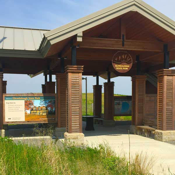 Park shelter kiosk at Glendalough State Park