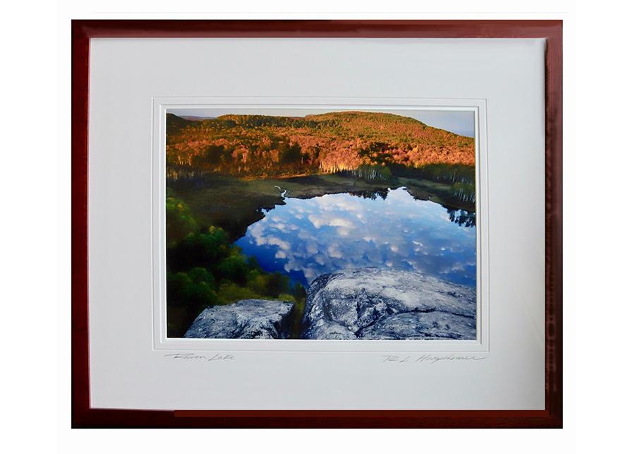 Framed photo of Raven Lake