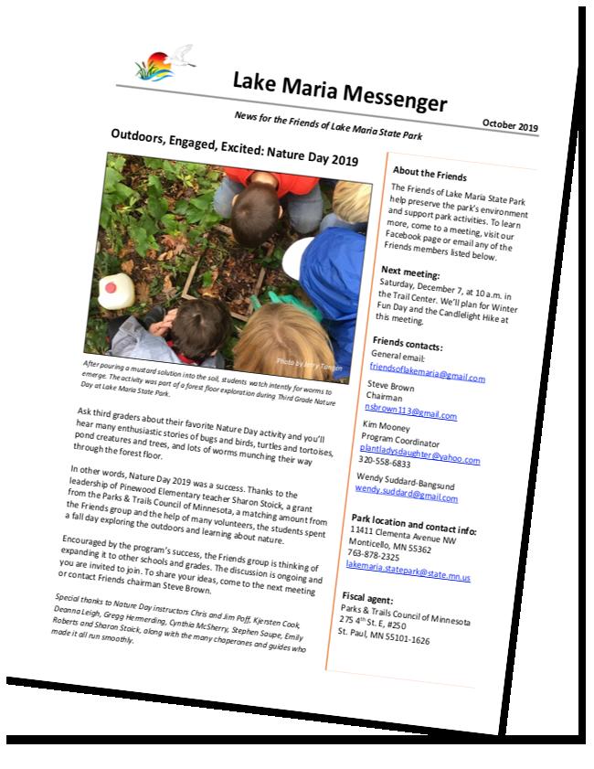 Lake Maria Messenger October 2019 screen shot
