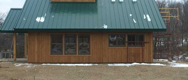 Maplewood State Park Sugar Shack nearly complete