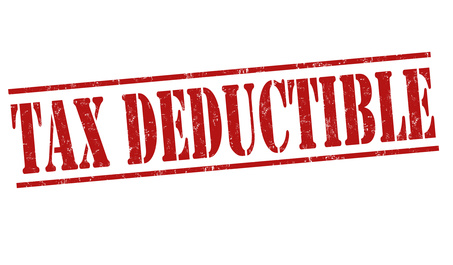 red tax deductible stamp