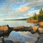 Early morning view of Lake Superior at Cascade River State Park
