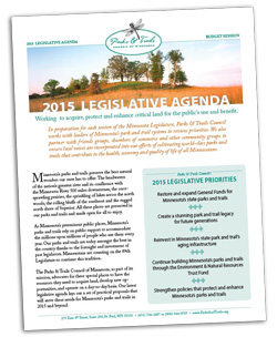2015 Legislative agenda cover