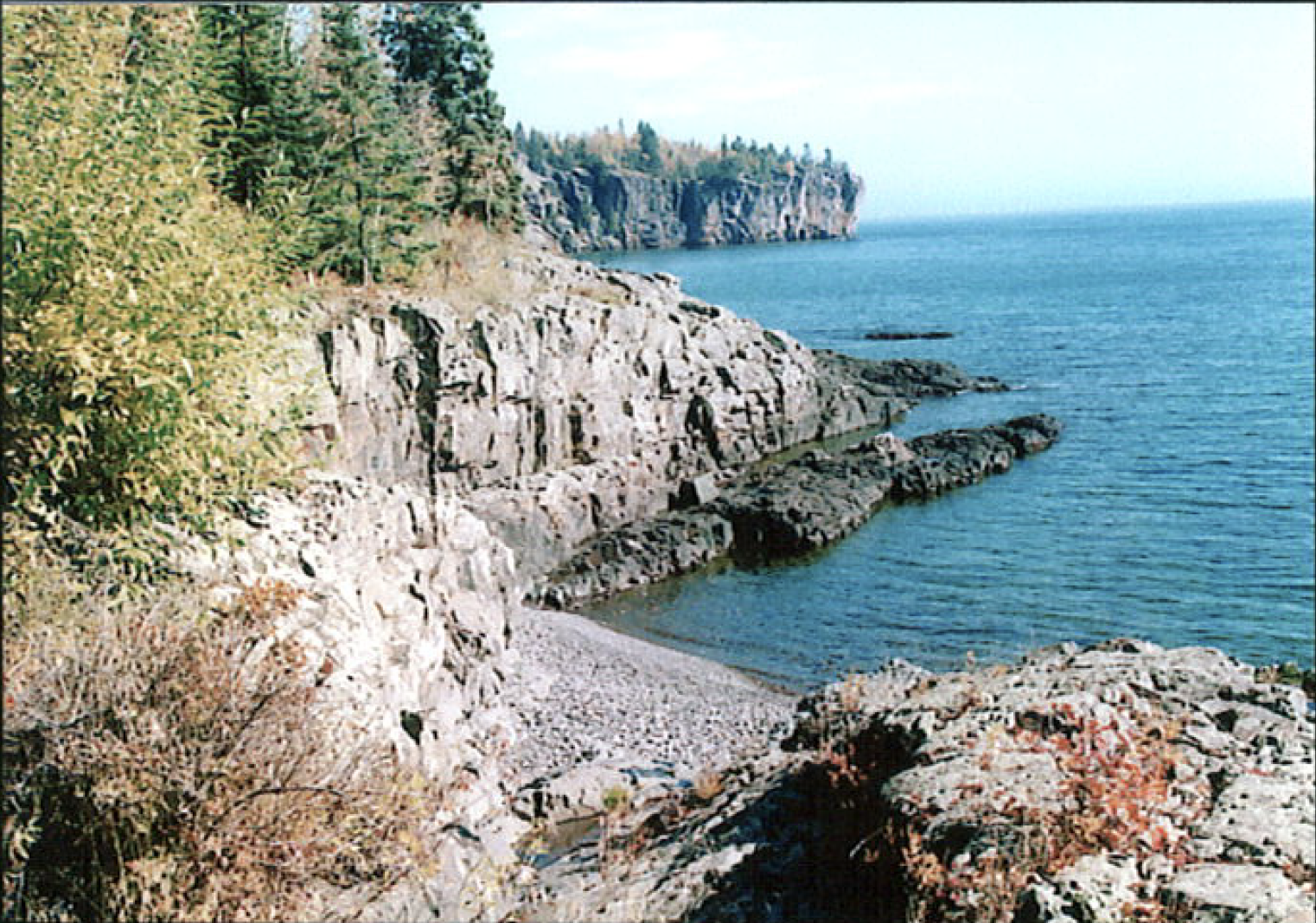 shoreline at Split Rock Lighthouse