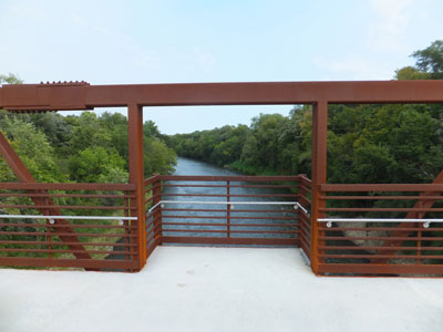 View of Cannon River from bridge Mill Towns State Trail