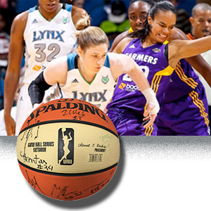 Lynx players and signed ball