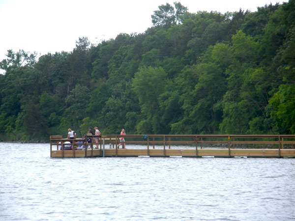 Sibley State Park fishing pier