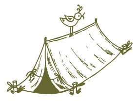 Doodle of a tent