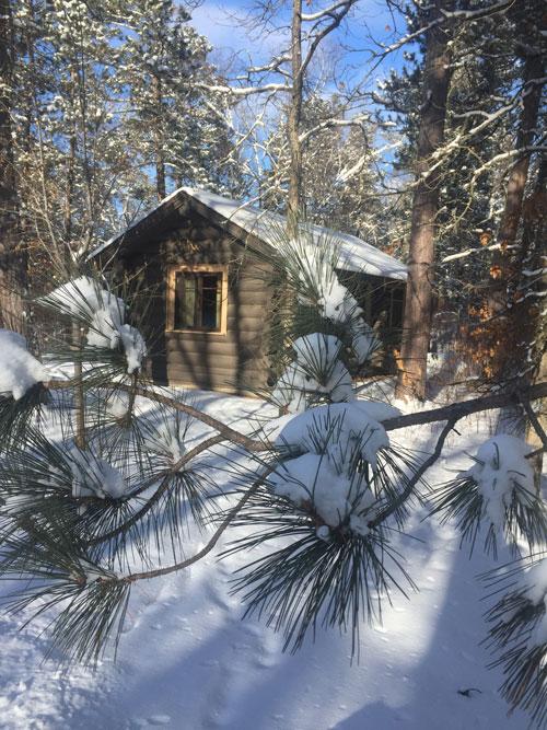 Bemidji State Park cabin in winter