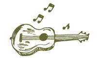 Doodle of guitar