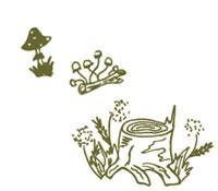 doodle of mushrooms