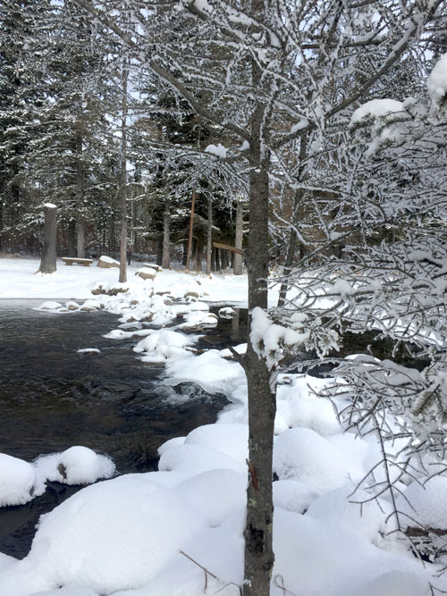 Itasca State Park headwaters in winter