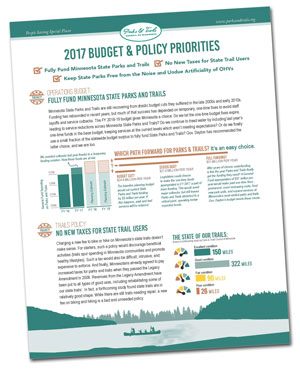 Cover of 2017 Legislative Agenda on budget and policy