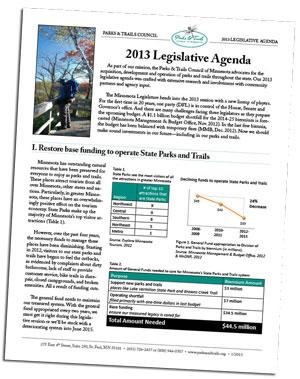 2013 Leg Agenda Cover