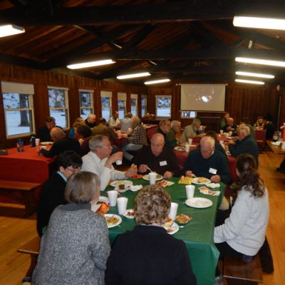 Friends of Whitewater gather for dinner in park lodge