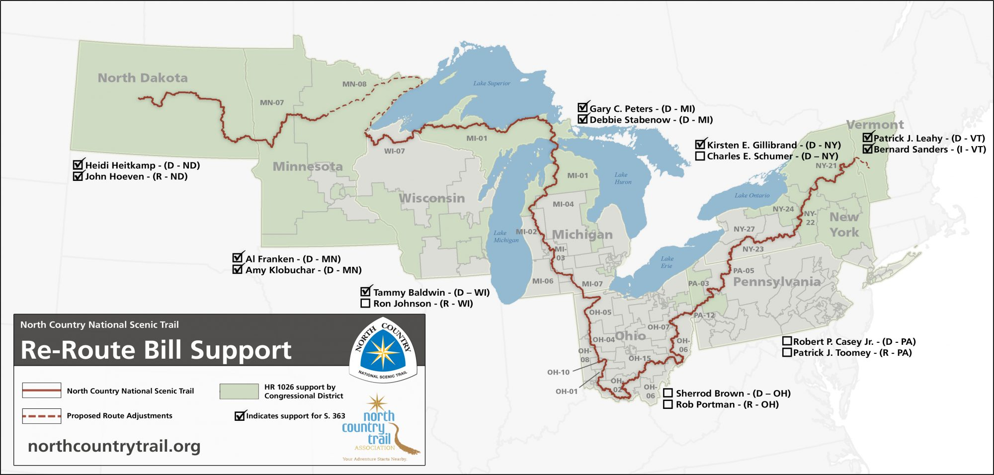 North Country Trail re-route plan
