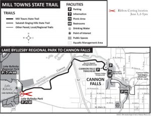 Map of Mill Towns State Trail