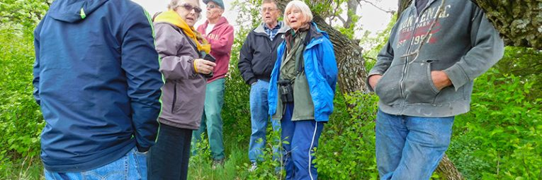 Members of Frontenac State Park Association tour land P&TC acquired for the park