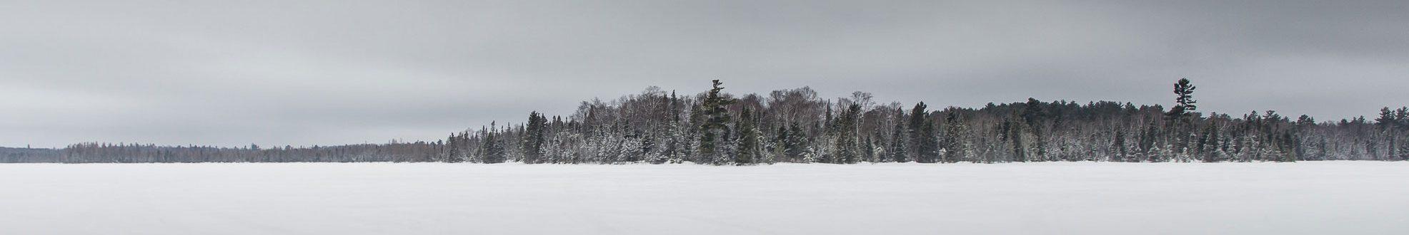 Bear Head Lake snow covered lake
