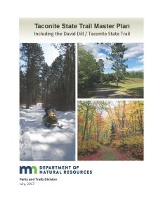 Cover of the Taconite State Trail Master Plan