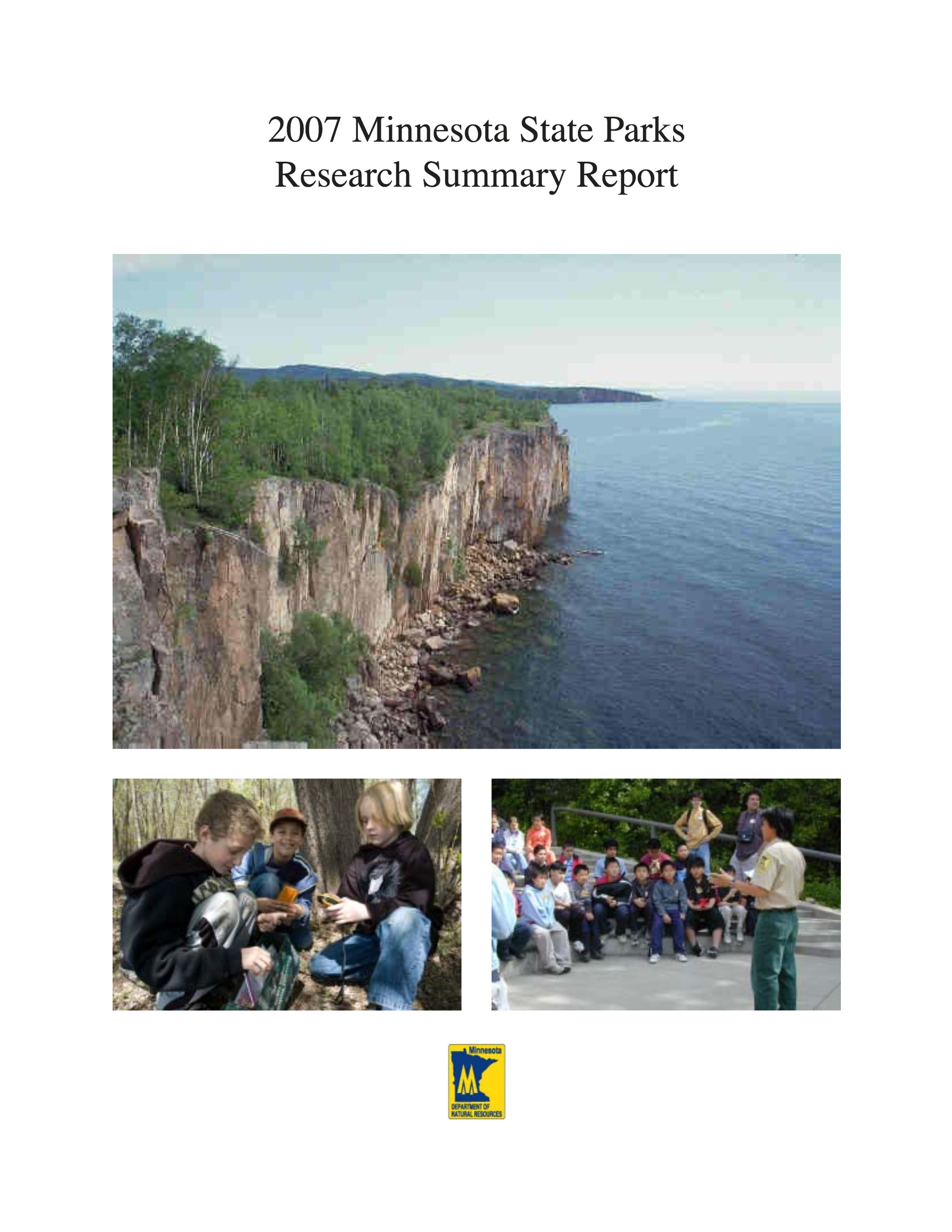 DNR Report Cover - 2007