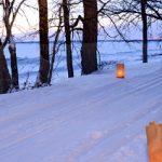 Woman skiing at Frontenac