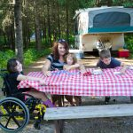 Accessible picnic table at Jay Cooke. Deborah Rose/MnDNR